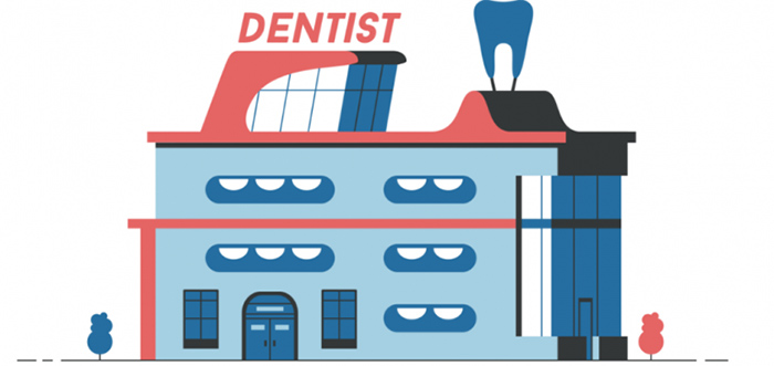 illustrated dentist office